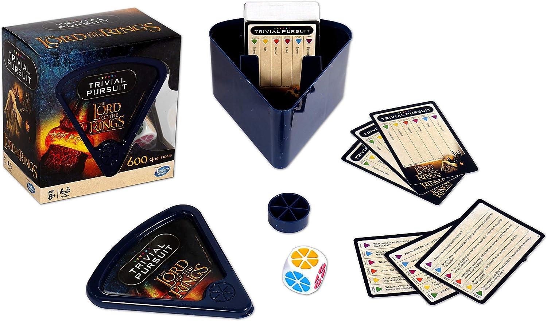 Winning Moves 27342 Friends Trivial Pursuit Quiz-Spiel – Bitesize Edition, Blau, Einheitsgröße Herr der Ringe