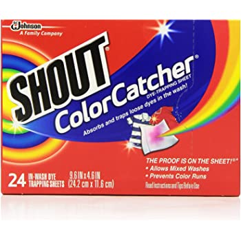 Shout Color Catcher Sheets for Laundry, Maintains Clothes Original Colors, 24 Count - Pack of 12 (288 Total Sheets)