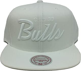 Mitchell & Ness NBA Chicago White Out Script Snapback Hat