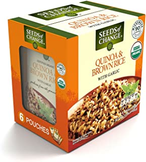 SEEDS OF CHANGE Organic Quinoa and Brown Rice with Garlic, 8.5-Ounce, 4 Count