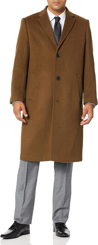 HART SCHAFFNER MARX Men's Shelby Cashmere-Blend Top Coat