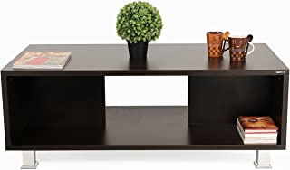 BLUEWUD Leo Engineered Wood Coffee Table/Centre Table with Shelves (Wenge)