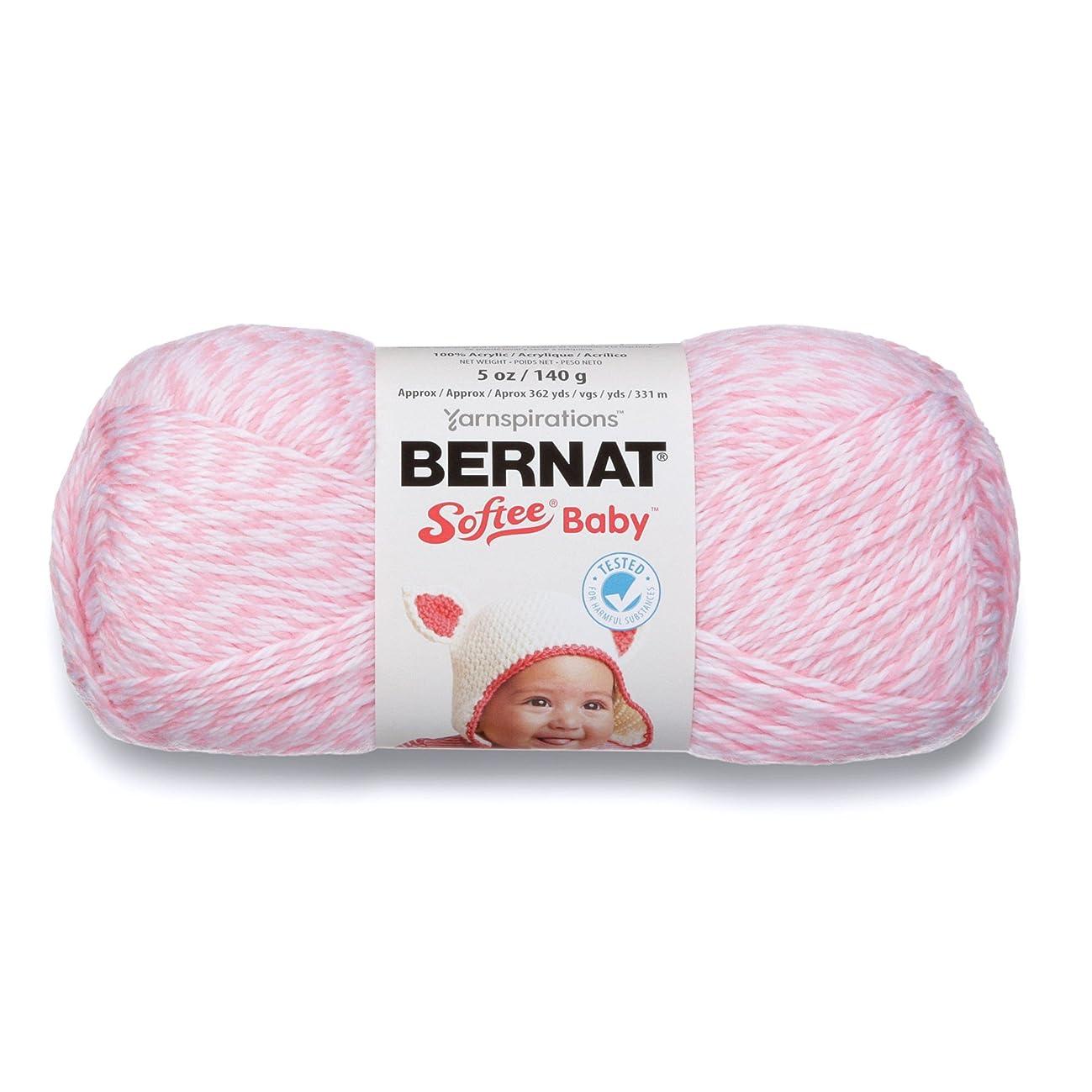 Bernat Softee Baby Yarn, 5 oz, Gauge 3 Light, Baby Pink Marl