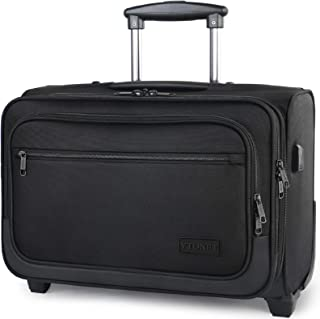 Laptop Trolley case Bahaowenjuguan Wheeled Laptop Briefcase Business Office Bag 18 inches//Black Trolley case Color : Powder Pilot Travel Cabin Bag