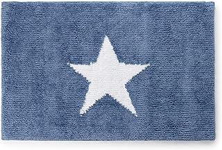 Montse Interiors, S.L. Alfombra Baño/Habitación Estrella Microfibra Antideslizante (Stella Azul, 50x80)