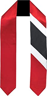 Trinidad Tobago Flag Graduation Sash/Stole International Study Abroad Adult