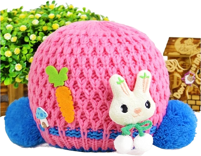Foxy Fane Cute Soft & Cozy Warm Knitted Wool Baby Hat Cap [0-2 Years]