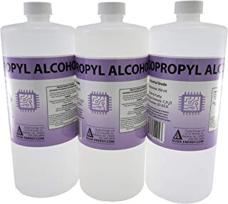 3 x 950ml Bottles of 99.9+% Pure Isopropyl Alcohol Industrial Grade IPA Concentrated Rubbing Alcohol 0.75 Gallons