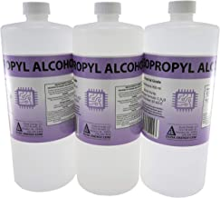 3 x 950ml Bottles of 99+% Pure Isopropyl Alcohol Industrial Grade IPA Concentrated Rubbing Alcohol