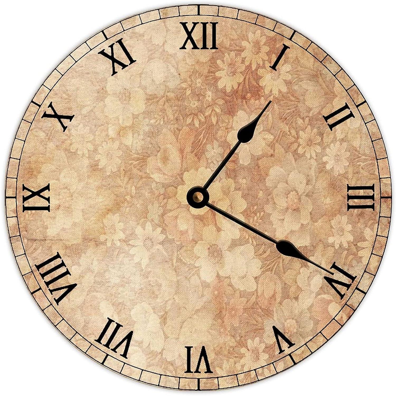 PotteLove Decorative Round Wood Hanging Art Vintage Clock Wall Direct Cheap bargain store B