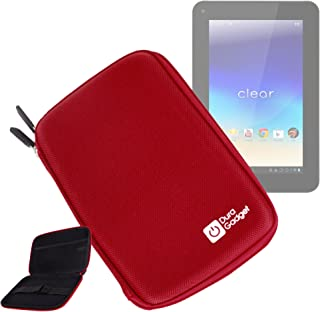 DURAGADGET Red Rigid Protective Zip Armoured Case with Soft Inner Lining & Netted Pocket for Filemate Clear Tablet 3FMT720BK-16G-R IPS Screen with 16GB Memory and Google Mobile Services