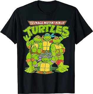 TMNT Classic Logo With All Ninja Turtles  T-Shirt