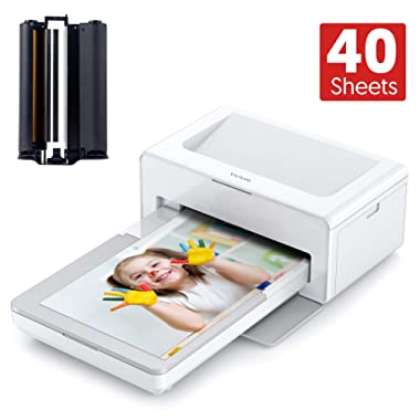 [Come with 40 Sheets Photo Paper] Victure Photo Printer, Instant Photo Printer to Print (4 x 6) inch Photos from Your Phone Conveniently , Compatible with iOS & Android Devices