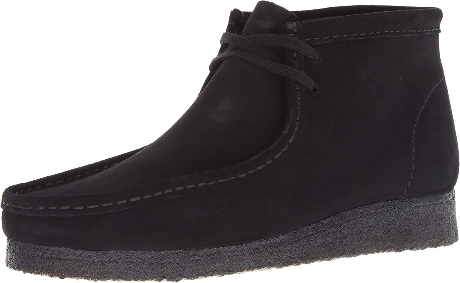 Clarks Men's Wallabee Boot Boot, black suede, 130 M US