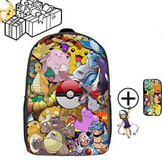 Pokemon DZC Bag 17inch,Backpack for Unise Child,for Kids