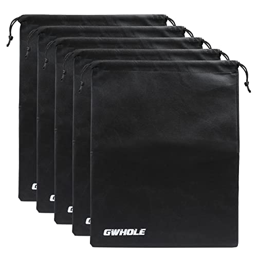 GWHOLE 5 PCS Travel Shoe Bags Non-Woven Breathable Drawstring Travel Shoe Storage Bags Dustproof Organizer Storage Case
