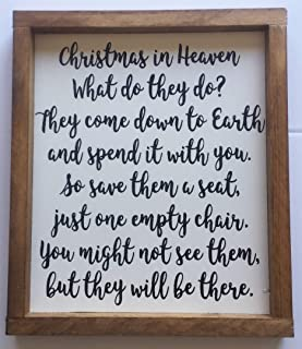 Christmas In Heaven - Christmas memorial sign, Christmas Gift