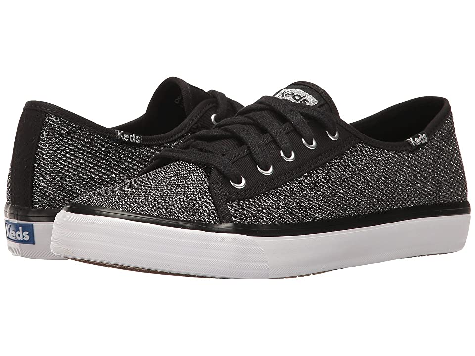 Keds Kids Double Up (Little Kid/Big Kid) (Black Mesh Sugar Dip) Girl