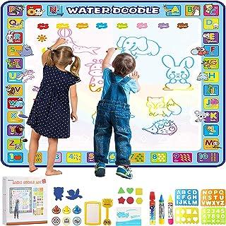 Educational Toys, Apsung Reusable Doodle Mat,100 x 100 cm Extra Large Water Drawing Doodling Mat Coloring Mat Educational ...