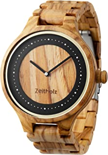 Wooden Watch for Men - 100% Natural Olivewood Case - Splash Proof - Eco-Friendly - Unique Watches for Men