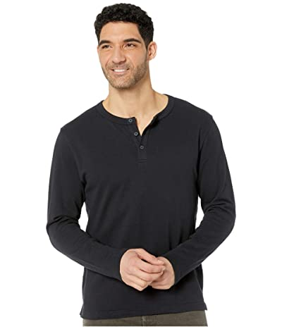 Alternative Recycled Cotton Henley (Black) Men
