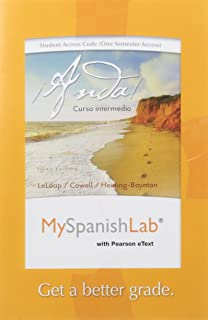 MyLab Spanish with Pearson eText -- Access Card -- for ¡Anda! Curso intermedio (one semester access) (3rd Edition)
