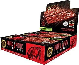 Golden Nest Pork Jerky Bar, Gluten Free, Healthy Meat From Gourmet USA, Non-GMO Honey Glazed (1.5 oz.) - Pack of 12 (Honey Sriracha)
