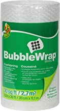 Duck Brand Bubble Wrap Original Protective Packaging, 12 Inches Wide x 30-Feet Long, Single Roll (393251), Clear