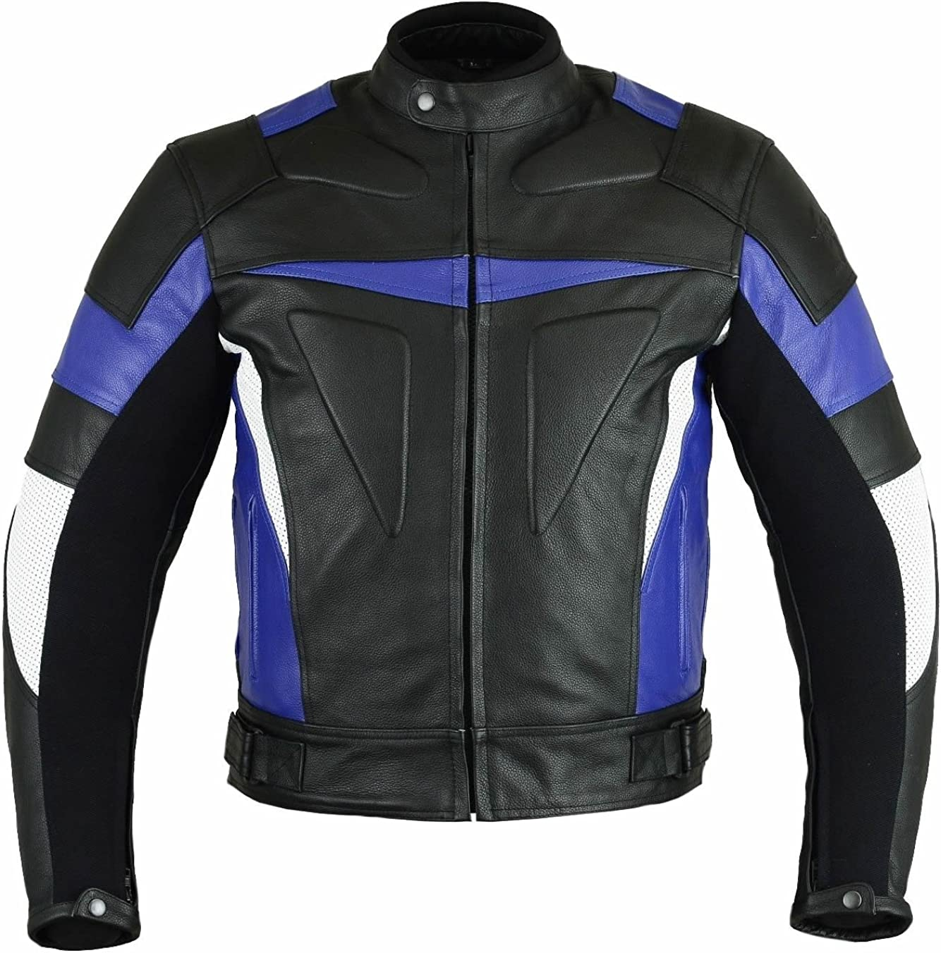 Classyak Men's Motorcycle Real Leather Jacket with CE Apporved Internal Protection