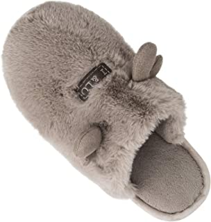 Lxso Women's Fuzzy Slippers Memory Foam Slip On Plush Fleece House Slipper Indoor
