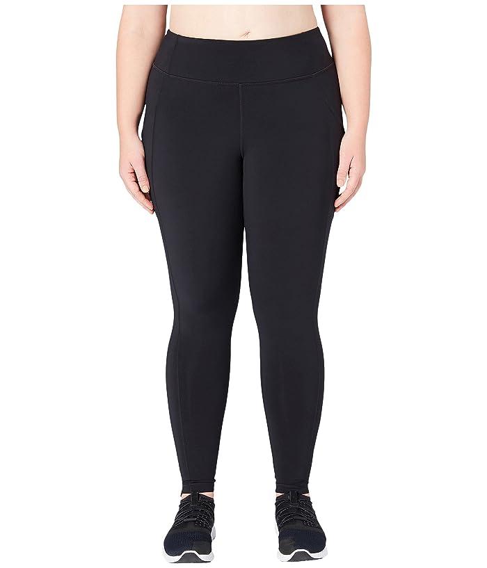 Core 10 Onstride Plus Size Medium Waist Run Leggings (Black) Women