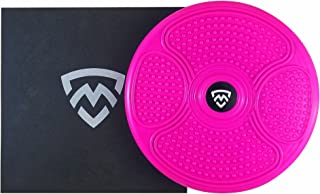 MANYTONEZ Waist Trimmer Ab Twist Board - Large 14 inch Exercise Equipment Disc with Workout Mat - for Slimming Waist and Strengthening Abs Core