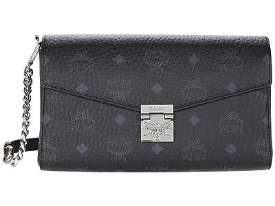 MCM Millie Visetos Crossbody Medium (Black) Handbags
