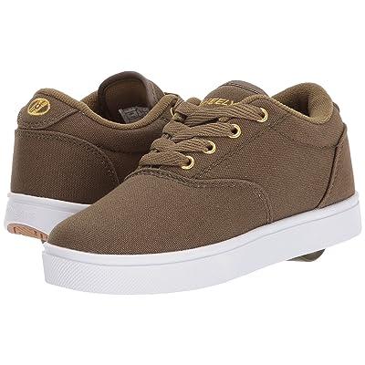 Heelys Launch (Little Kid/Big Kid/Adult) (Dark Green/Gold) Boys Shoes