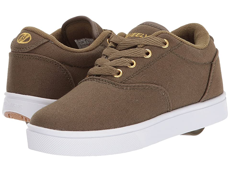 Heelys Launch (Little Kid/Big Kid/Adult) (Dark Green/Gold) Boys Shoes