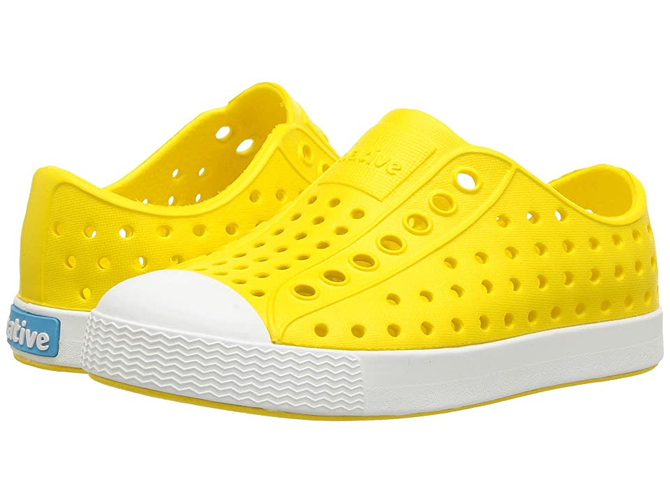 Native Kids Shoes Jefferson (Toddler/Little Kid) (Crayon Yellow/Shell White) Kids Shoes