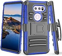 LG V30 Case, LG V30 Plus Holster, TILL [Knight Armor] Heavy Duty Full-Body Rugged Resilient Armor Defender Case Locking Secured [Belt Swivel Clip][Kickstand] Cover Shell for LG V30 / LG V30+ [Blue]