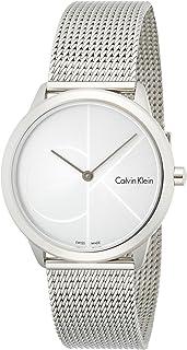 ساعة كوارتز للبالغين من الجنسين من كالفن كلاين، مع عرض انالوج وسوار ستانلس ستيل، طراز K3M2212Z
