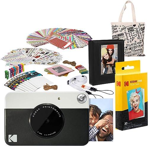 2021 Kodak discount PRINTOMATIC Instant Print Camera (Black) Deluxe sale Bundle online