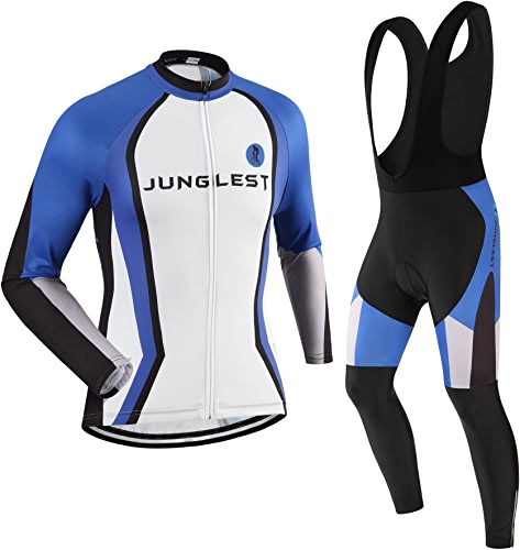 Maillot de Cyclisme Homme Manches Longues Jersey(S5XL,Option Cuissard,3D Coussin) N68