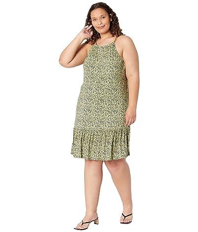 MICHAEL Michael Kors Plus Size Floral Chain Halter Dress