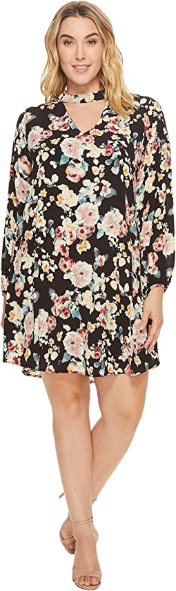 B Collection by Bobeau - Plus Size Mykyla Long Sleeve Dress