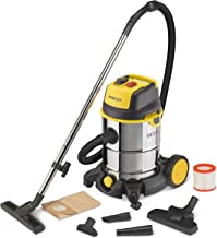 Stanley 51695 吸尘器,带尘盒 30 升,1600 瓦,黑色,不锈钢,黄色