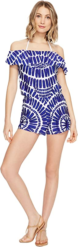 Trina Turk - Algiers Off the Shoulder Romper Cover-Up