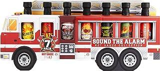 Modern Gourmet Foods - Scharfe Saucen - Hot Sauce Geschenkbox - 7 Geschmacksrichtungen - Grill-Geschenk - Feuerwehrauto