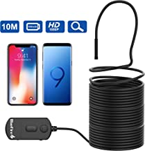 BlueFire 1080P Semi-Rigid Inspection Camera 2 MP HD WiFi Borescope Snake Camera Wireless Endoscope with Zoomable Picture and 1800mAh Battery for Android and iOS Smartphone, iPad, Tablet (33FT)