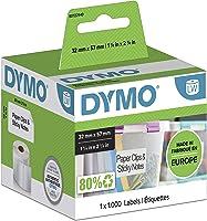 DYMO S0722540 LabelWriter Çok Amaçlı Yapışkanlı Etiket, 57x32 Milimetre, Beyaz/Siyah, 1.000'lik Rulo (S0722540)