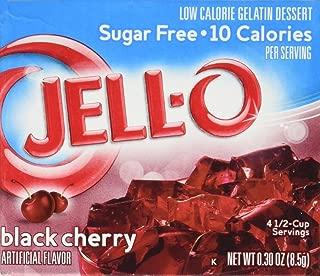 Jell-O Black Cherry Sugar-Free Gelatin, 0.3 Ounce Box (Pack of 4)
