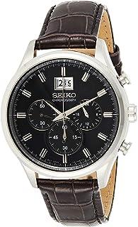 Seiko men's Chronograph Quarts Watch Black SPC083P2