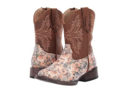 Roper Kids Claire (Toddler) (Floral Vamp/Tan Shaft) Cowboy Boots
